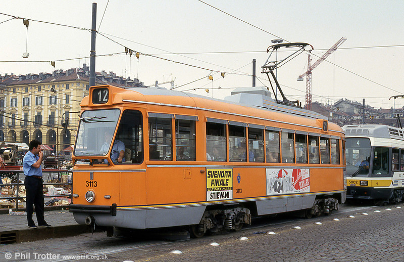Torino 3113 at Piazza della Republicca, 30th July 1993.