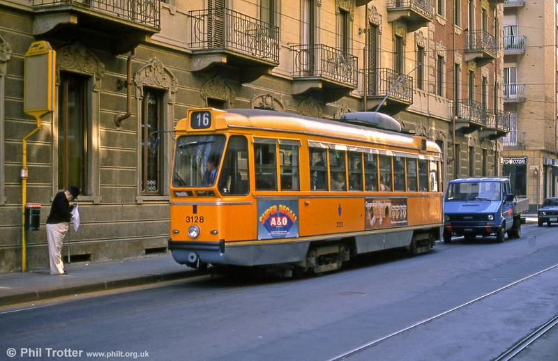 Car 3128 at Rossini on 5th September 1989.