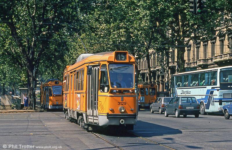 Car 3129 at Porta Nuova on 5th September 1989.