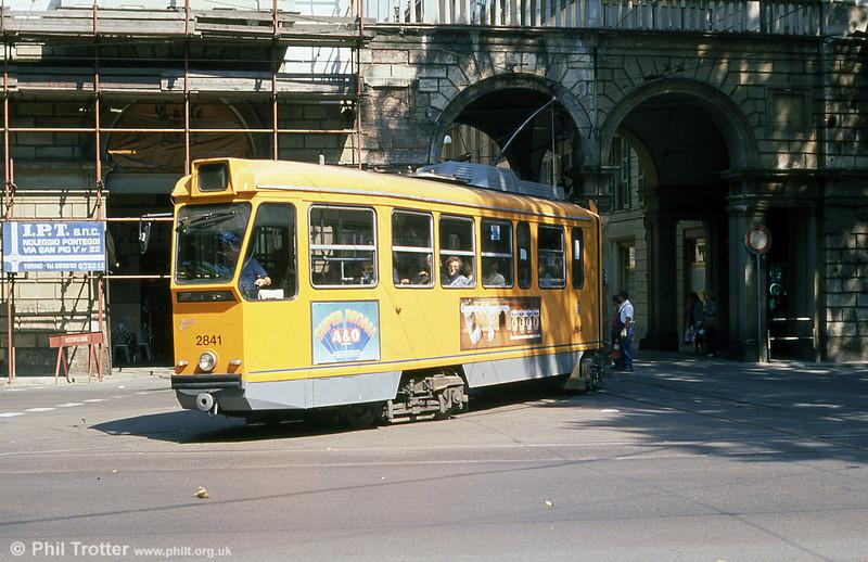Car 2841 at Porta Nuova on 5th September 1989.