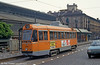 Car 3108 at Piazza della Republicca on 30th July 1993. In 1949 ATM Turin placed an order with FIAT Matefer for 125 new trams. The first 25 cars were built in 1949 and they were numbered 3100-3124. They were equipped with 97E trucks, built by Tibb under Brill license. The second batch of 20 cars was built in 1953 (3125-3144) and in 1957 twenty more cars arrived, being numbered 3145-3164. Car 3164 was fitted with Fiat 2045 trucks as a pilot model for next batch of trams. In 1958 FIAT built 60 more trams for Turin, they were numbered into 3165-3224 series and had Fiat 2045 trucks, built under license of the Commonwealth Steel Co. In 1958/59 thirty more cars of similar design were built (3250-3279), this time using an ATM Moncenisio trucks. This class of trams was the mainstay of Turin tram fleet for many years, being rebuilt by Viberti/Seac in 1976/77.