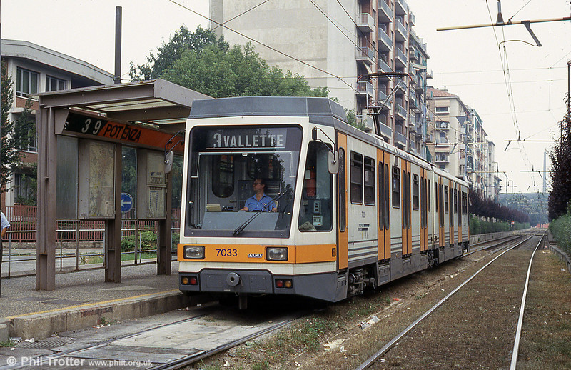Torino Fiat car 7033 at Potenza, 30th July 1993.