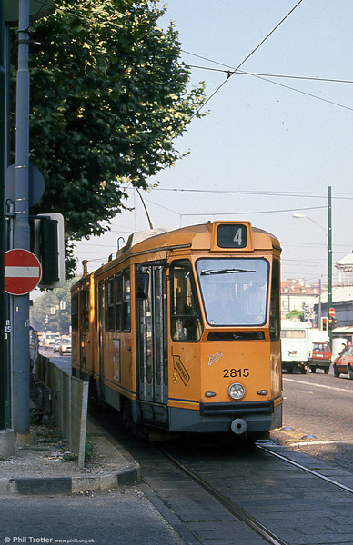 Car 2815 at Corso Regina Margherita on 5th September 1989.