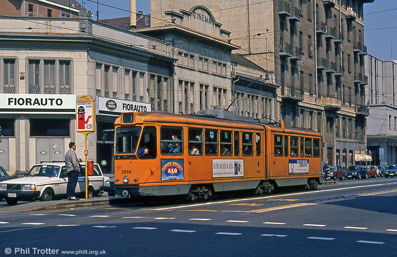Car 2856 at Via Nizza on 5th September 1989.