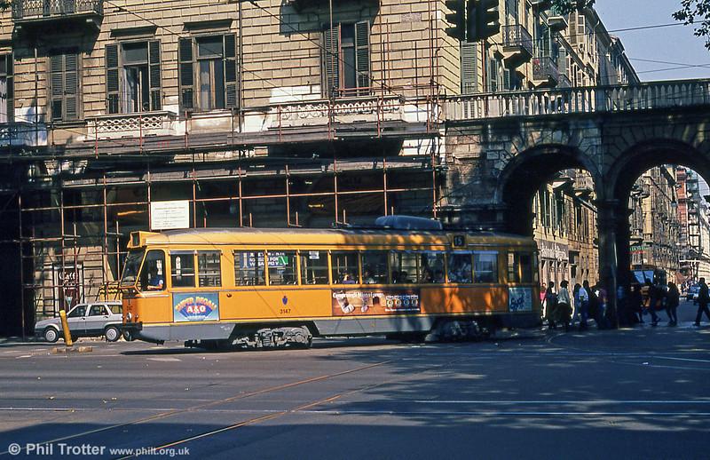 Car 3147 at Porta Nuova on 5th September 1989.