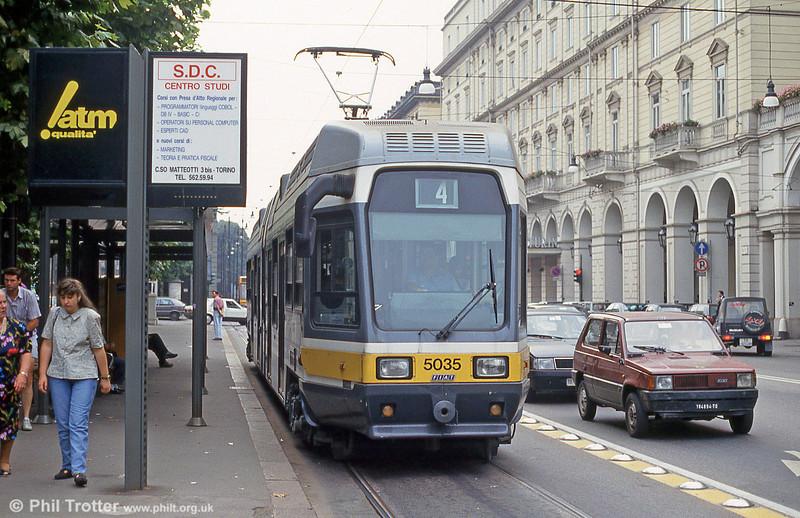 Car 5035 at Porta Nuova on 30th July 1993.