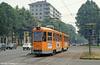 Torino car 2851 at Piazza Bernini on 30th July, 1993.