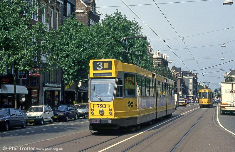 Car 793 in Beethovenstraat, 27th August 1991.