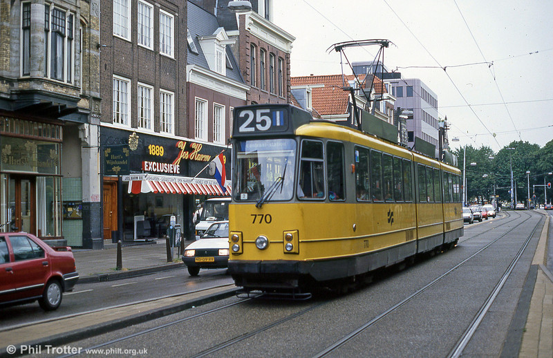 Car 770 at Vijzelstraat on 7th August 1990.