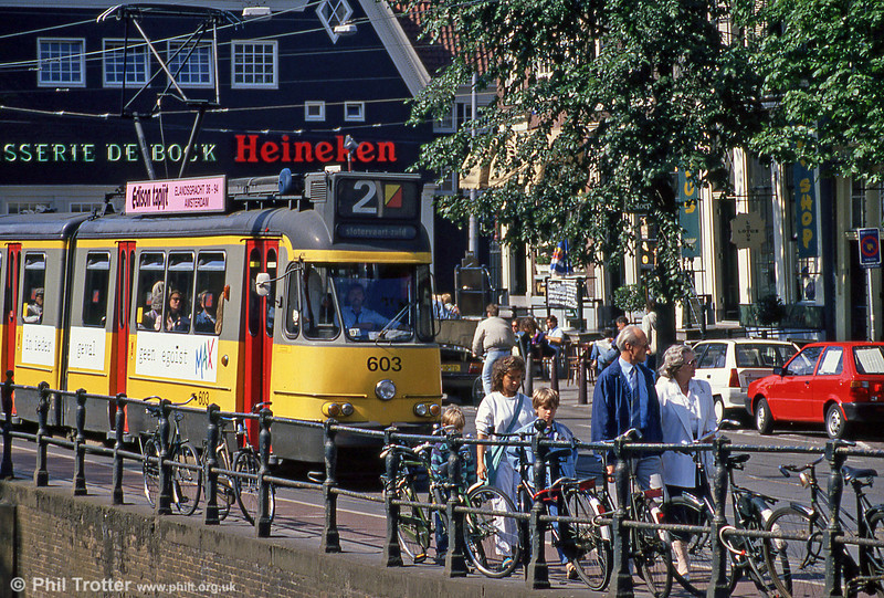 Car 603 at Spui on 8th August 1990.