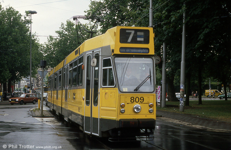 Car 809 at Ferdinand Bolstraat on 7th August 1990.