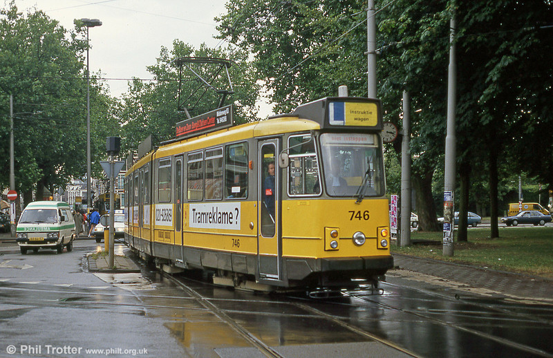 Car 746 at Ferdinand Bolstraat on 7th August 1990.