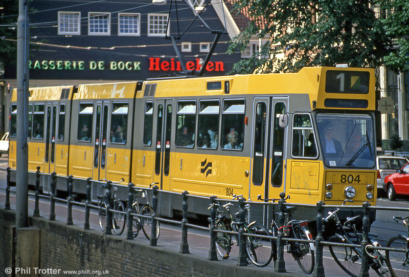 Car 804 at Spui on 8th August 1990.