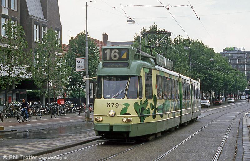 Car 679 at Ferdinand Bolstraat on 7th August 1990.