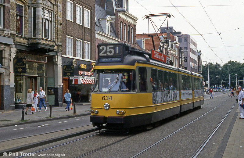 Car 634 at Prinsengracht on 27th August 1991.
