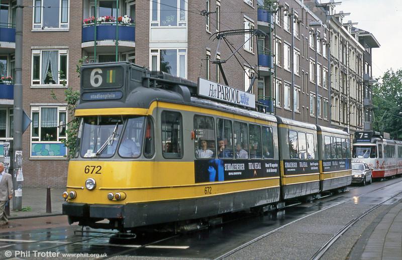 Car 672 at Ferdinand Bolstraat on 7th August 1990.
