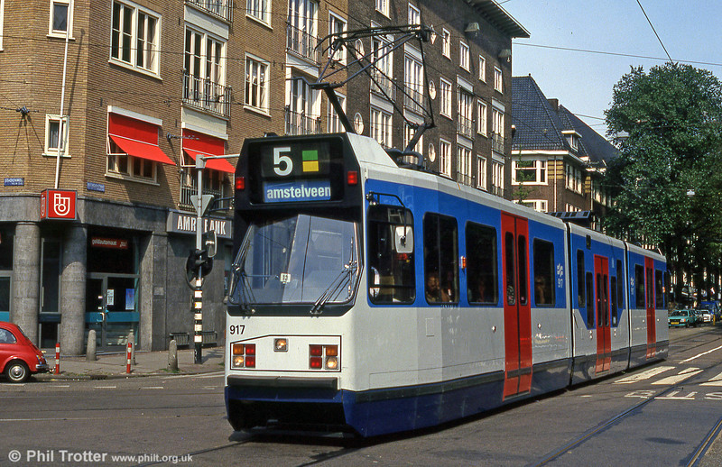 Car 917 in Beethovenstraat, 27th August 1991.
