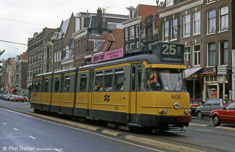 Car 605 at Ferdinand Bolstraat on 7th August 1990.
