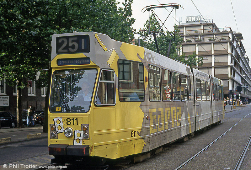 Car 811 at Prinsengracht on 27th August 1991.
