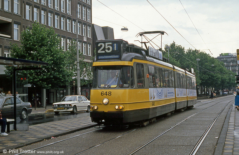 Car 648 at Victorie Plein on 7th August 1990.