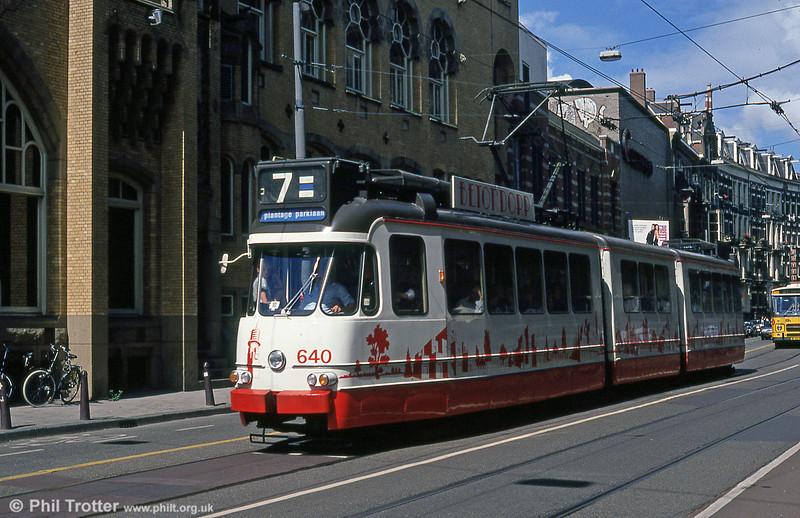 Car 640 at Leidesplein on 7th August 1990.