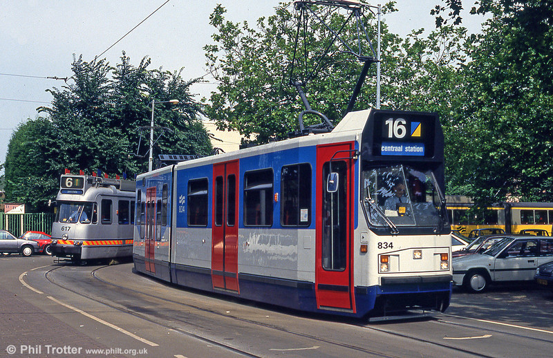 Car 834 at Stadion Plein on 27th August 1991.