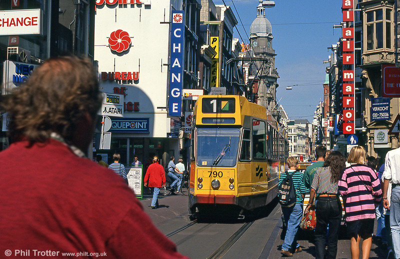 Car 790 at Leidestraat on 8th August 1990.