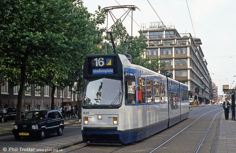 Car 830 at Prinsengracht on 27th August 1991.
