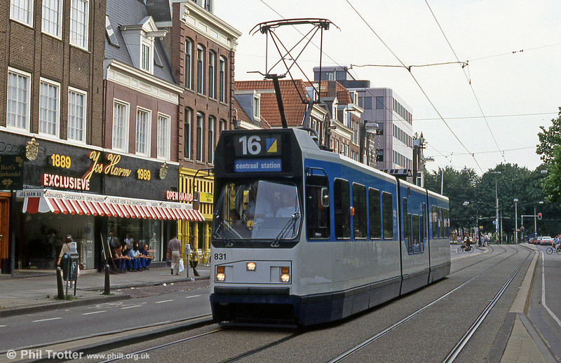Car 831 at Prinsengracht on 27th August 1991.