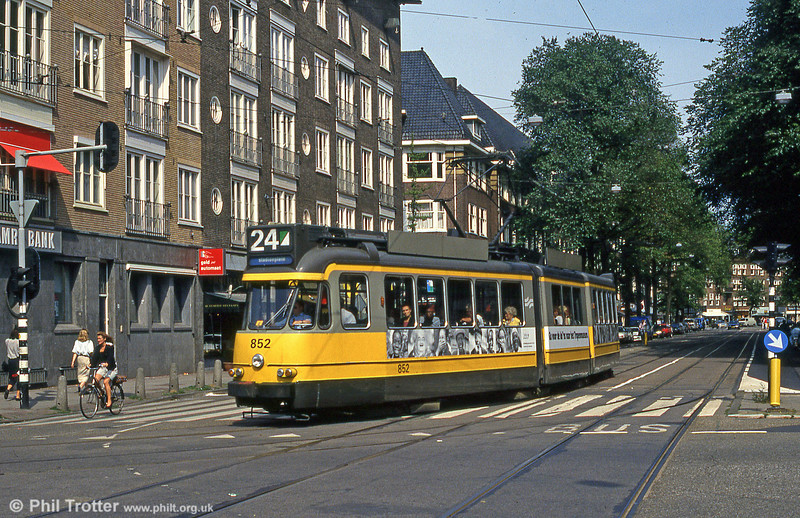 car 852 in Beethovenstraat, 27th August 1991.