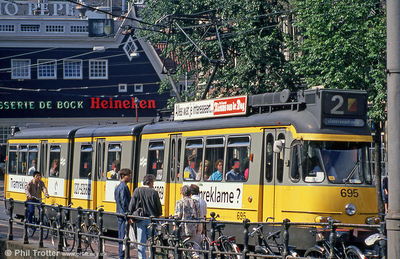 Car 695 at Spui on 8th August 1990.