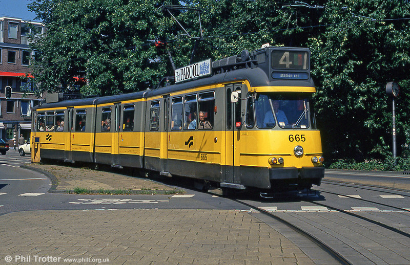 Car 665 at Frederiksplein on 8th August 1990.