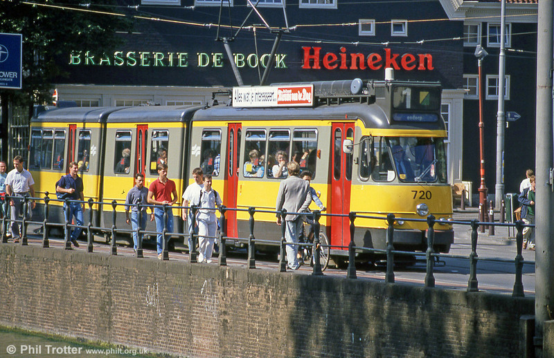 Car 720 at Spui on 8th August 1990.