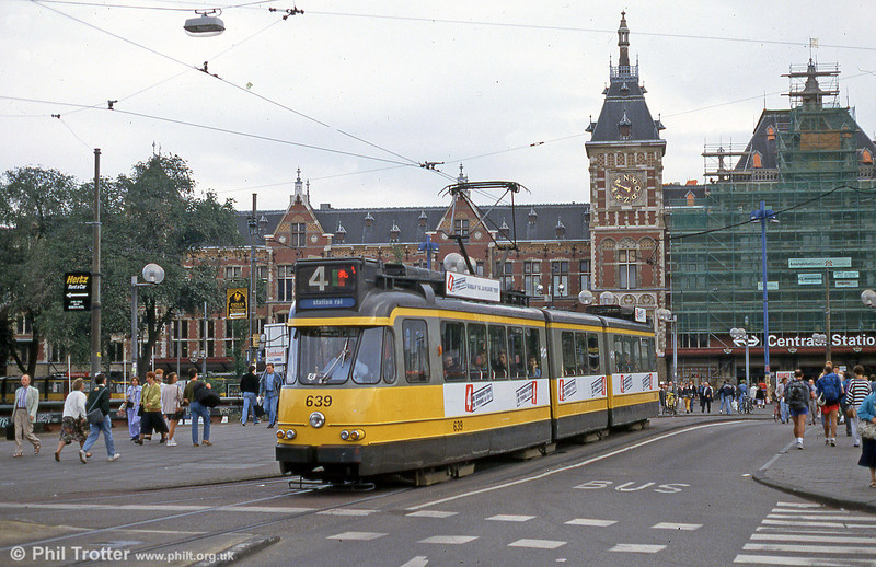 Car 639 at Centraal Station on 28th August 1991.