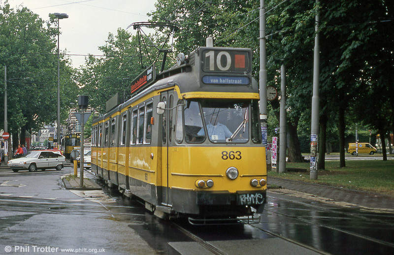 Car 863 at Ferdinand Bolstraat on 7th August 1990.