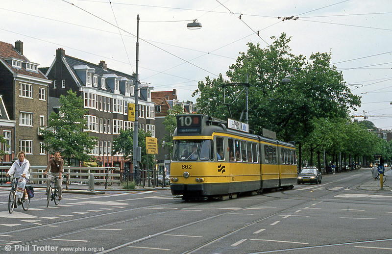 Car 862 at Marnixstraat t on 7th August 1990.