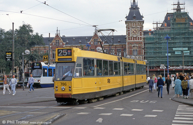 Amsterdam 786 at Centraal Station, 28th August 1991.
