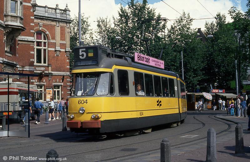 Car 604 at Leidesplein on 7th August 1990.