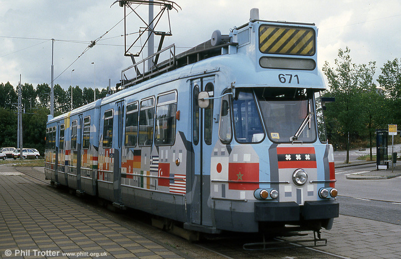 Car 671 at Station Zuid on 7th August 1990.