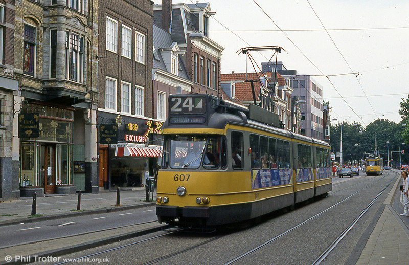 Car 607 at Prinsengracht on 27th August 1991.