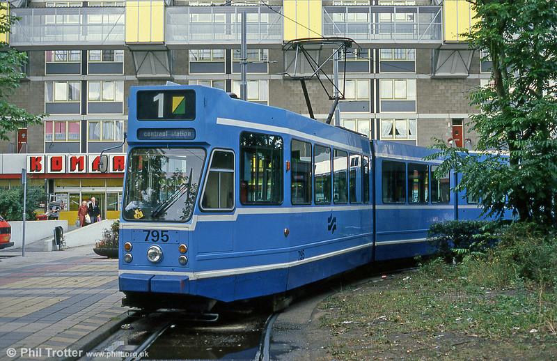 Car 795 at Osdorp on 7th August 1990.