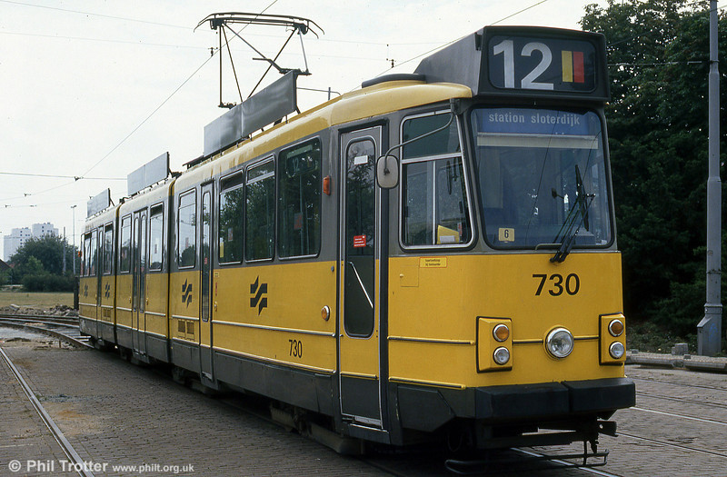 Car 730 at Amstel Station on 8th August 1990.