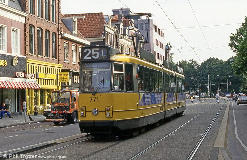 Car 771 at Prinsengracht on 27th August 1991.