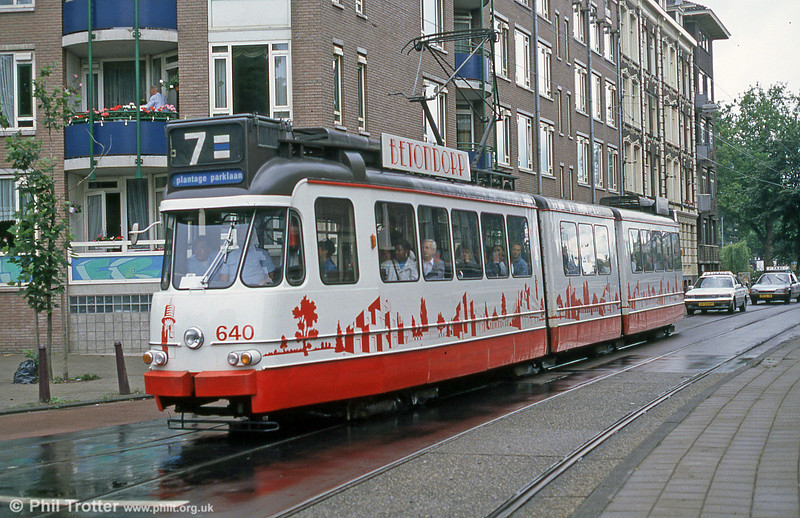 Car 640 at Ferdinand Bolstraat on 7th August 1990.
