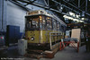 Rotterdam Allan car 408 of 1929 at the WYTM on 7th October 1990. The car has since returned to its home city and can be found at the Rotterdam Tramway Museum. In 1929 a series of 50 new bogie cars (401-450) were introduced together with 20 similar trailers (1001-1020). These trailers were converted into motorcars (451-470) in 1931. In the same year another 100 cars (471-570) and 20 trailers (1001-1020) were acquired making a total of 170 motorcars and 20 trailers overall.