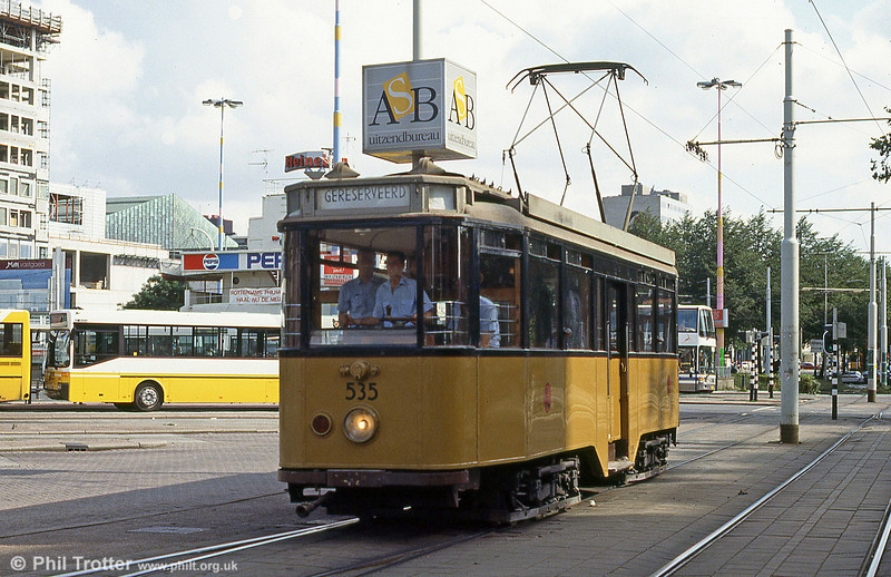 Vntage car 535 at Centraal Station, 28th August 1991.