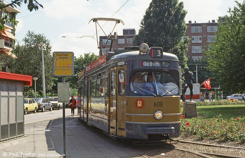 Car 608 at Diergaarde on 28th August 1991.