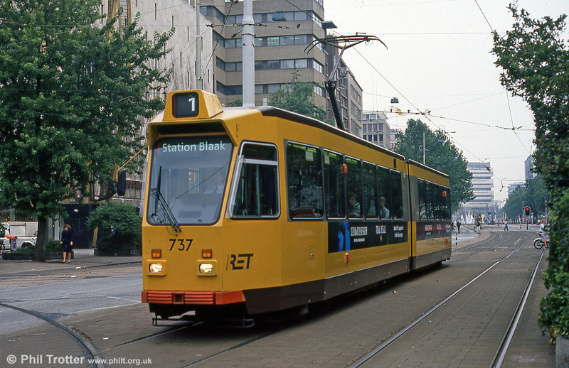 Car 737 at Coolsingel on 8th August 1990.