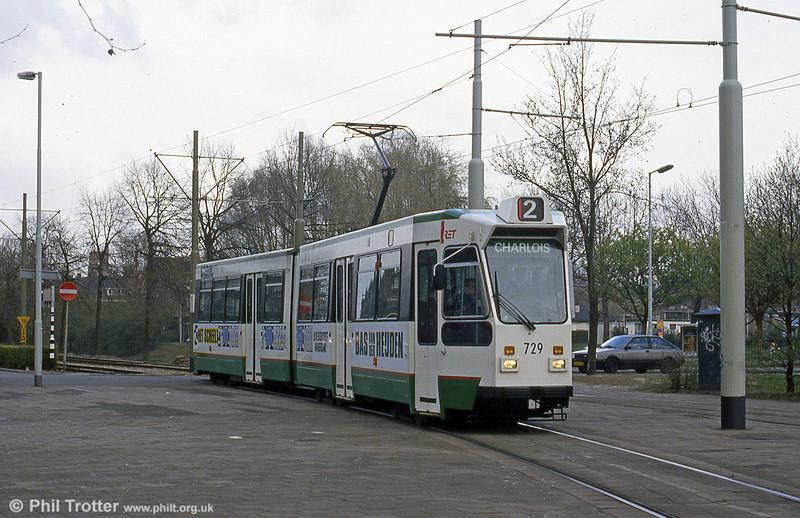 Car 729 at Charlois on 14th April 1994.