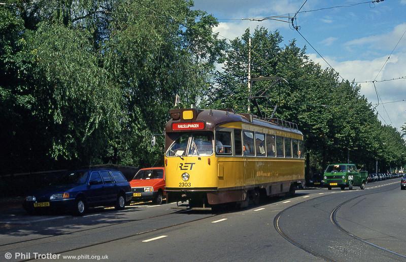 Car 2303 at Van Aerssenlaan on 28th August 1991.